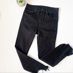 "Rag & Bone 10"" Capri Destroyed Hem Jeans"